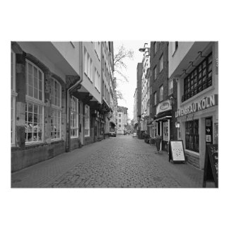 Cologne. Buttermarkt Street and the Beer Museum Photo Print