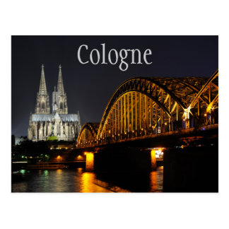 Cologne Cathedral, Hohenzollern Bridge, Germany Postcard