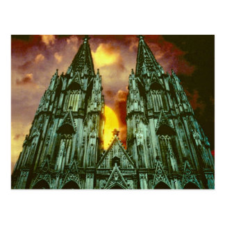 Cologne Cathedral with sun Postcard
