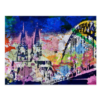 Cologne is multicolored postcard