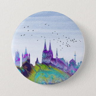 Cologne Skyline 7.5 Cm Round Badge