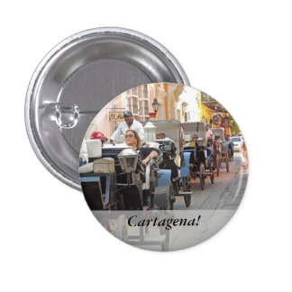 Colombia-Carriage Ride in Cartagena 3 Cm Round Badge