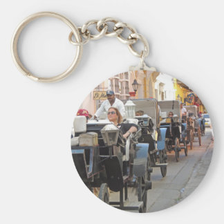 Colombia-Carriage Ride in Cartagena Basic Round Button Key Ring