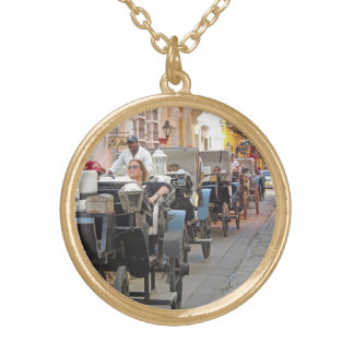 Colombia-Carriage Ride in Cartagena Gold Plated Necklace