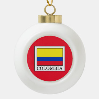 Colombia Ceramic Ball Christmas Ornament