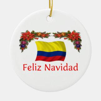 Colombia Christmas Ceramic Ornament