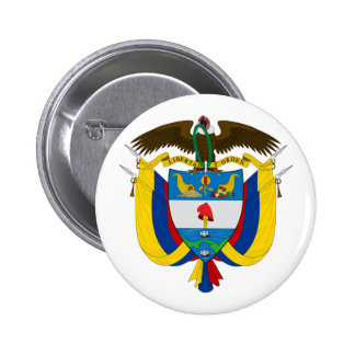 Colombia Coat of Arms Button