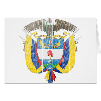 Colombia Coat Of Arms Card