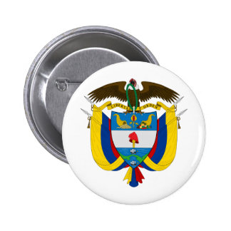 Colombia Coat of arms CO 6 Cm Round Badge