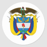 Colombia Coat of arms CO Round Sticker