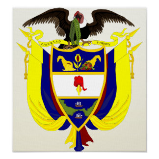 Colombia Coat of Arms detail Poster