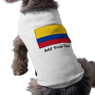 Colombia – Colombian Flag Sleeveless Dog Shirt