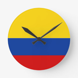 colombia country flag clock