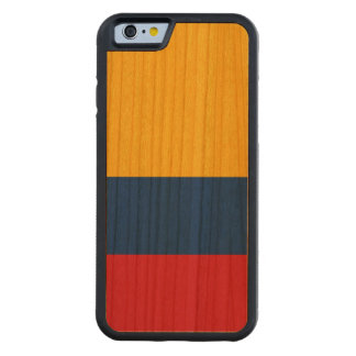 Colombia Flag Carved Cherry iPhone 6 Bumper Case