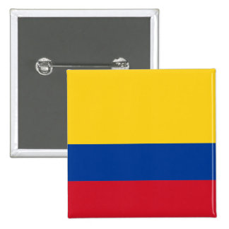 Colombia flag CO 15 Cm Square Badge