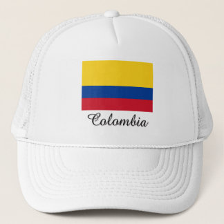 Colombia Flag Design Trucker Hat