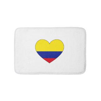 Colombia Flag Heart Bath Mats