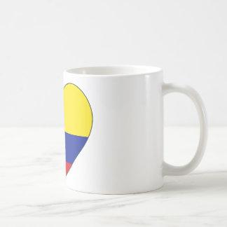 Colombia Flag Heart Coffee Mug