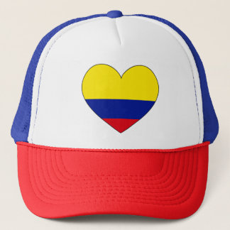 Colombia Flag Heart Trucker Hat