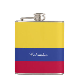 Colombia Flag Hip Flask