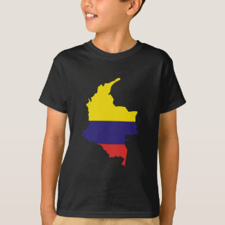 Colombia flag map T-Shirt