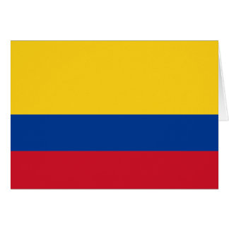 Colombia Flag Note Card