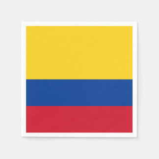 Colombia Flag Paper Napkin