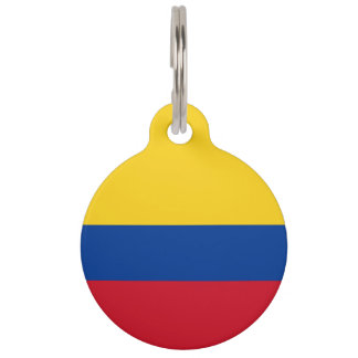 Colombia Flag Pet ID Tag