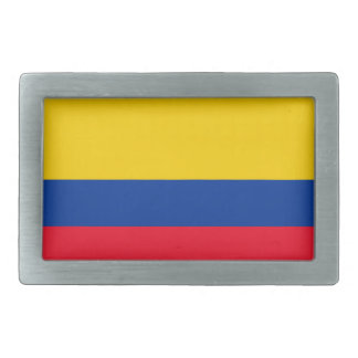Colombia Flag Rectangular Belt Buckles