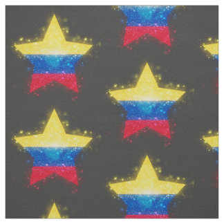 Colombia Flag Shining Fabric
