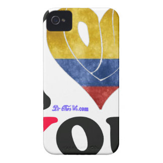 COLOMBIA FLAGS I LOVE YOU CUSTOMIZABLE PRODUCTS iPhone 4 CASES