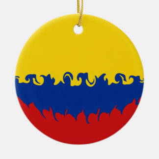 Colombia Gnarly Flag Ceramic Ornament