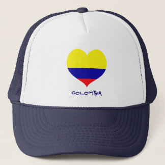 Colombia heart trucker hat