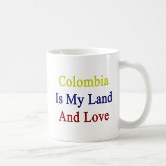 Colombia Is My Land And Love Coffee Mug