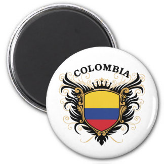 Colombia 6 Cm Round Magnet