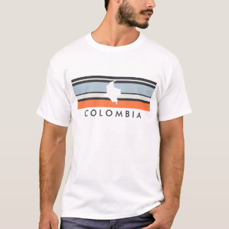 Colombia Map: Modern Stripes T-Shirt