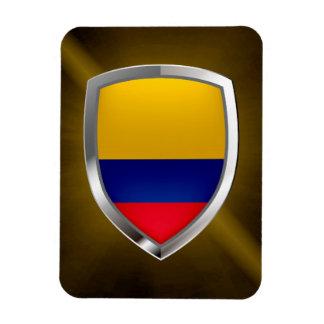 Colombia Mettalic Emblem Magnet
