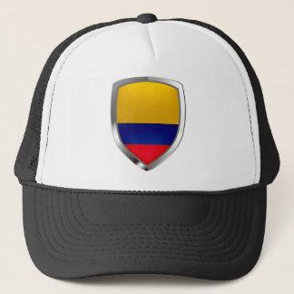 Colombia Mettalic Emblem Trucker Hat