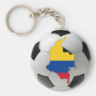 Colombia national team basic round button key ring