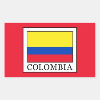 Colombia Rectangular Sticker
