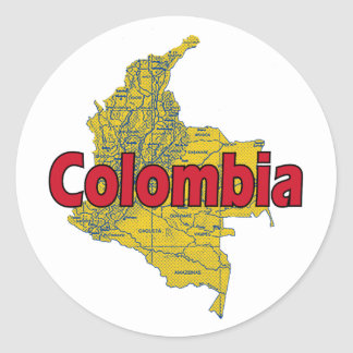 Colombia Round Sticker