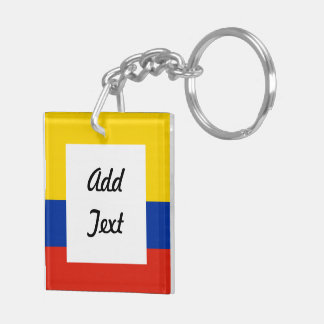 Colombia Soccer Ball Double-Sided Square Acrylic Key Ring