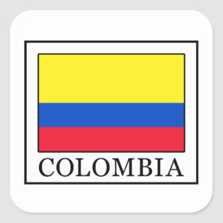 Colombia Square Sticker