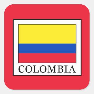 Colombia Square Sticker