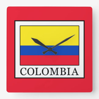 Colombia Square Wall Clock