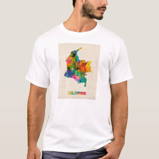 Colombia Watercolor Map T-Shirt