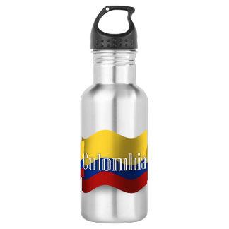 Colombia Waving Flag 532 Ml Water Bottle