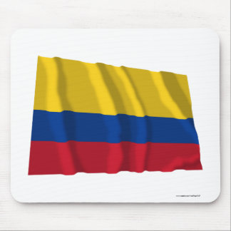 Colombia Waving Flag Mouse Pad