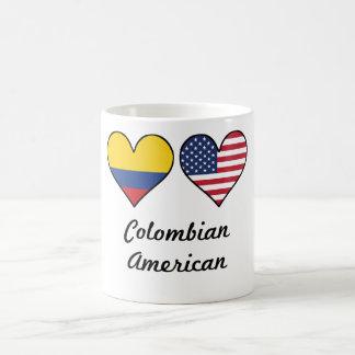Colombian American Flag Hearts Coffee Mug