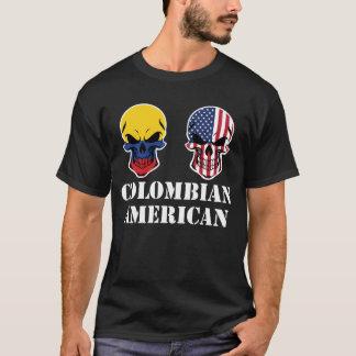 Colombian American Flag Skulls T-Shirt